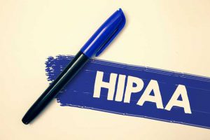 Piece of Paper that says HIPAA